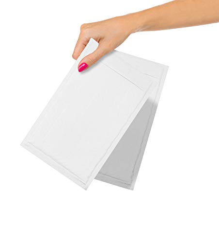 ABC Pack of 25 White Kraft Bubble Padded Envelopes 6.5 x 9. Peel and Seal Envelopes. White Bubble Mailers Cushion Envelopes 6 1/2 x 9. Shipping Bags for Mailing, Packing, Packaging. Wholesale Price