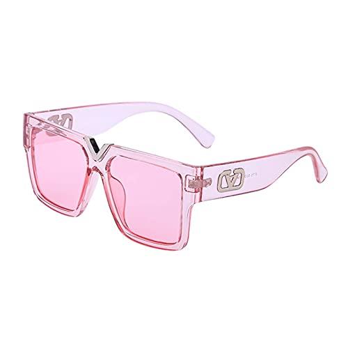 AMFG Gafas De Sol De Las Gafas De Sol De Las Gafas De Sol Grandes De La Moda, Gafas De Protección Solar, Gafas De Desgaste Con Estilo, Conducción, Gafas De Fiesta (Color : E, Size : M)