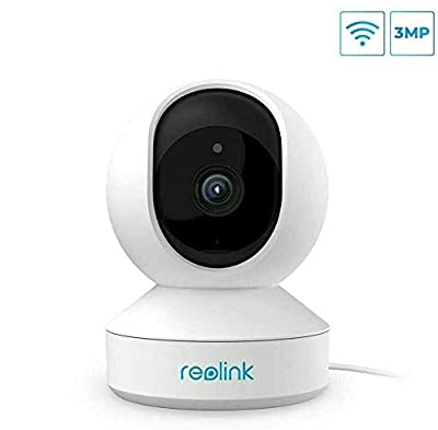 Wireless Camera, 3MP HD WiFi Pet Cameras for Home Security System, Reolink Indoor Pan/Tilt Baby Monitor with Phone App, Two-Way Audio, Night Vision, Remote Viewing w/SD Slot and Could, E1