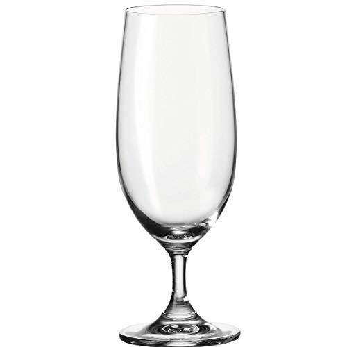 Leonardo Daily Bier-Gläser, 6er Set, spülmaschinengeeignetes Bier-Glas, Bier-Tulpen mit gezogenem Stiel, Pils-Gläser Set, 360 ml, 063318