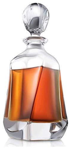 SYZHIWUJIA Decantador de vidrios de Whisky, Gafas de Whisky de 700 ml de fijación de Cristal Libre de Plomo, hogar, restaurantes y Fiestas Licorera