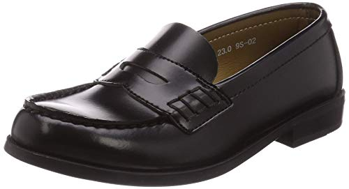 [ムーンスター] ローファー 通学履き 幅広 3E 20~26.5cm レディース BVL530 ブラック 24.5 cm