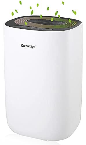 Greenmigo Deumidificatore Portatile(12L/24h - Adatto Fino a 40m2) con Nuovo Gas...