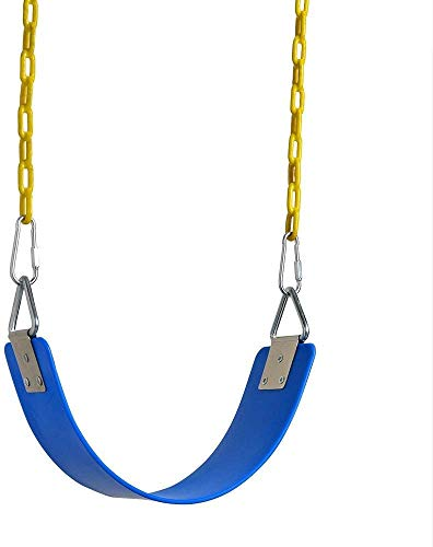 AGPTEK Swing Seat, 77.2 x 15 x 0.7cm Yard Swing for Kids & Adults with Metal Triangle Ring -- Blue(300KG /660LB Weight Limit)