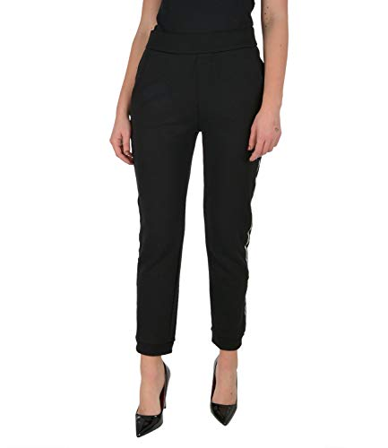 ARMANI EXCHANGE Skinny Fit Jeans Pantaloni Sportivi, Nero, S Donna
