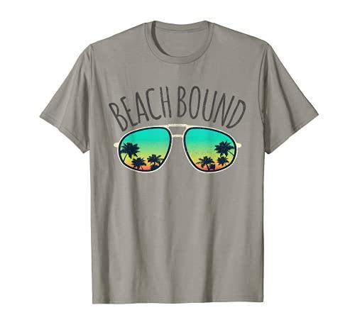 Beach Bound Retro Surf Vintage Gafas de sol envejecido regalo Camiseta