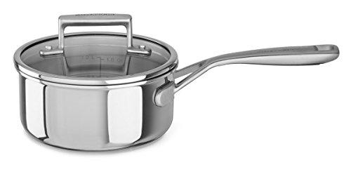 KitchenAid kookpan, roestvrij staal, zilver, 16 cm