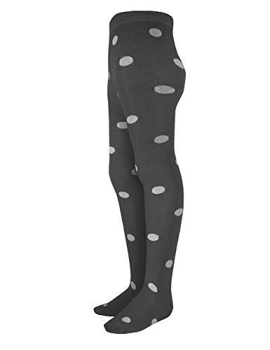 maximo Mädchen große Punkte gekettelte Spitze Strumpfhose, Grau (Carbonmeliert/Graumeliert 1805), 92/98