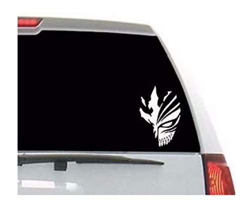Bleach Anime Ichigo mask Skull Vinyl Decal Sticker for Car Window/Bumper, Laptop, Door, Wall by A&B Traders.