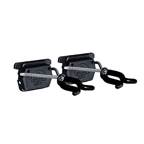 Bruns Gerätehalter 2 Stück schwarz für Universal Geräteleiste Ausführung BigDean Black Edition