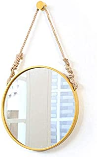 Daily Necessities Round Makeup Vanity Mirrors Wall Hanging Mirror with Metal Frame Circle Cosmetic Mirror Shaving Mirror for Entryways, Washrooms (Size : A 40cm) (Size : D 30cm)