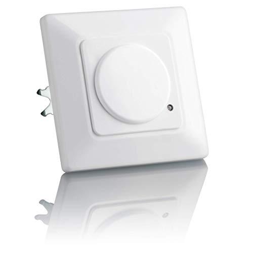 SEBSON Detector de Movimiento empotrable, Interior, HF Sensor, LED Adecuado, Montaje en Pared, programable, Alcance 15m / 180°