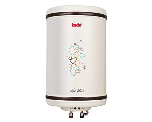 Indo Super Deluxe Storage Water Geyser with Steel Tank (06 L, Ivory)