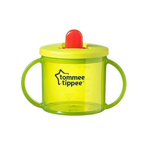 Primera Taza Tommee Tippee Essentials - Pack de 2x 190ml Tazas sin Bpa Edad 4m + (Verde)