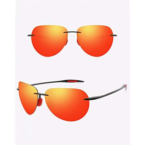 SXRAI Gafas de sol ultraligeras sin montura para hombre, protección UV, C6