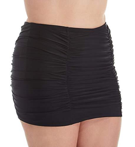 Raisins Curve Women's Plus Size Marrakesh Solids Costa Skirt Swim Bottom C840069 18W Black