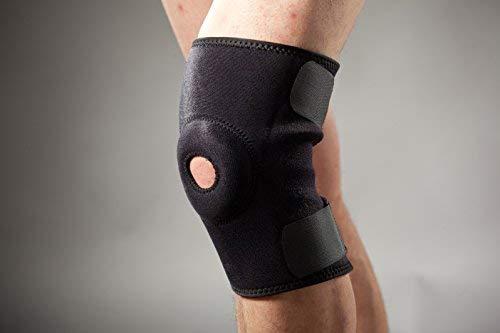Hochwertige Neopren-Kniebandage mit Gel Pelotte und Patellaaussparung