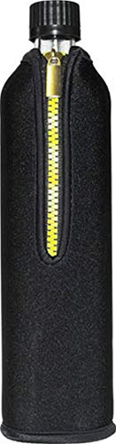 Biodora Glasflasche mit Neoprenbezug schwarz (700 ml) - DORAs