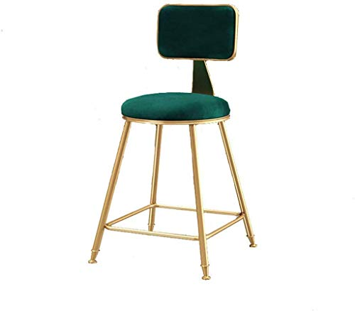 GZDD Dining Chair Dining Chair Casual Tea Shop Bar Chair Coffee Back Dressing Table Bar Chair (Color : B)