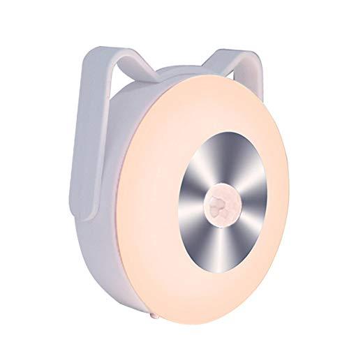 Luz Con Sensor De Movimiento, Luces LED Para Gabinetes Que Funcionan Con Baterías, Brillo Ajustable, En Cualquier Lugar, Luces De Armario, Luces De Escalera, Lámpara De Mesa, Lámpara De Disco De Pared