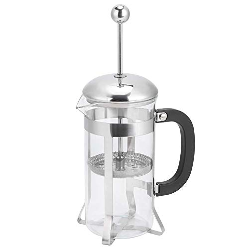 Zwindy Cafetera, cafetera de Prensa, té Que Fluye Anti-líquido para Uso doméstico Coffee Hit Leche Pura(350ML)