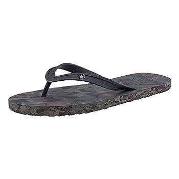 Volcom Men s Rocker Flip Flop Sandal Dark Camo 11 D US