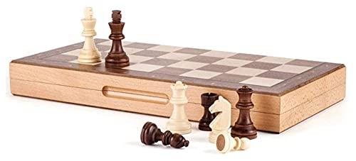JKFZD Conjunto de ajedrez de Madera magnético 2 Reinas adicionales, Tabla Plegable, Juego de Juegos de ajedrez de Viajes portátiles Hechos a Mano (Size : 40x40x3cm)