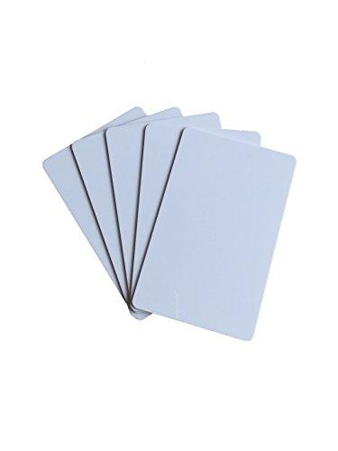 YARONGTECH 10 Stück Premium Plastikkarten/PVC Karten Weiss, Rohlinge, blanko, Kartendrucker, NEU!