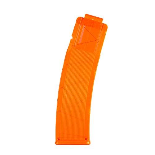 Hosim Bullet Clip Magazine, 22-Darts Quick Reload Banana Clip for Nerf Blaster and Modulus Series Blaster(Transparent Orange)