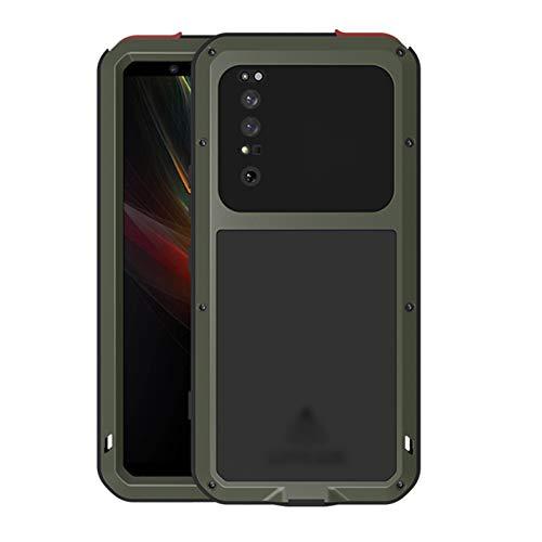 Estuche del teléfono anti rayado delgado Ajuste fit For Sony Xperia 1 II Funda impermeable impermeable Suciedad A prueba de agua Resistente al agua Armadura de metal Cubierta de la armadura del teléfo