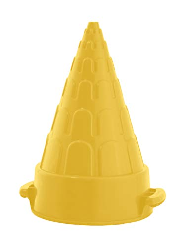 Superio Snow Tower Mold, Yellow Cone Shape Snow and Sand Mold, Build a Sand Castle, Snow Fort, Snow Toys for Kids, Sand Toy For Outdoor Play Beach and Sandbox