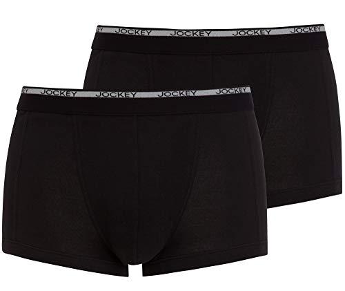 Jockey Herren, Modern Classic Short Trunk 2er-Pack, 18502922, Schwarz / Schwarz, XL