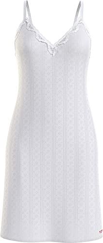 Tommy Hilfiger Damen Strappy Dress Trägerkleid, weiß, Medium