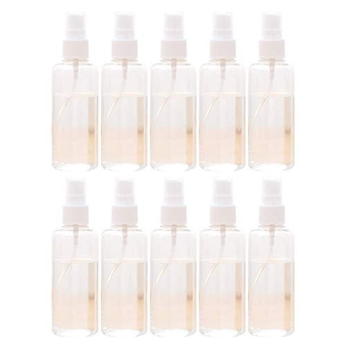 Healifty 10 Stück Plastiksprühnebelflaschen Leere Flaschen mit Pumpspray für Kosmetische Make-Up-Toilettenartikel nach Hause Bringen (30 Ml)