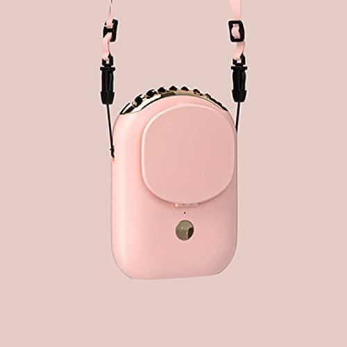 USB Lade Kleiner Lüfter Tragbarer Ventilator mit Seilaufhängung 3 Geschwindigkeiten,Mini Portable Lüfter Persönliche Halskette Wiederaufladbare Lüfter für Ballspiel,Camping,Reisen Color 4
