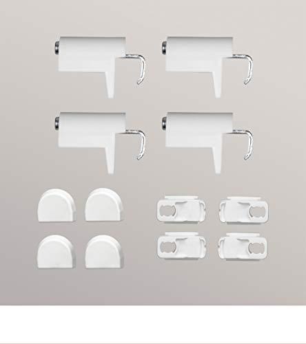 LYSEL Zubehör Set Klemmträger für Plissee, Jalousien und Rollos aus Kunststoff/Metall - in weiß