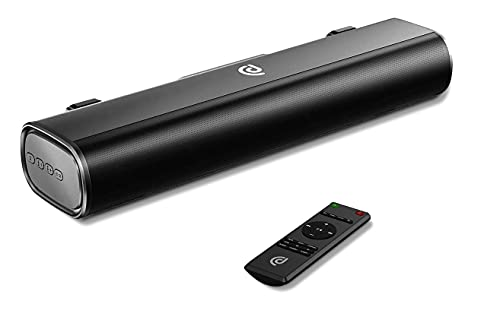 BOMAKER Mini Soundbar 2.0 50W RMS PC Lautsprecher Bluetooth 5.0 16 Zoll mit Optische,USB,AUX Anschlüsse für TV,Computer, Laptop, Handy-Schwarz