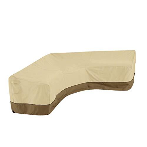 GFCGFGDRG En Forma de V Sofá seccional de la Cubierta Exterior Mobiliario Cubierta Patio Sofá Cover V en Forma de sección Couch Protector Impermeable