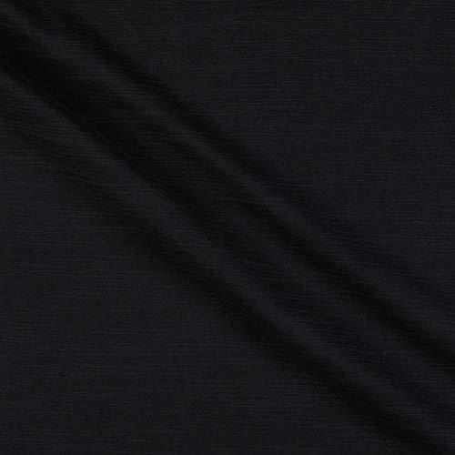 Fabric Cotton Double Gauze Slub, Black