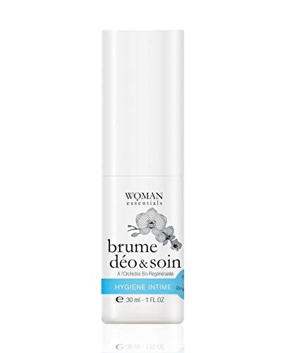 WOMAN ESSENTIALS BRUME DEO & SOIN - 24-uurs Verzorgende Deodorant Mist voor Lichaam en Intiem Gebruik - Droge, gevoelige of geschoren huid - spray van 30 ml. 99% Natuurlijke ingrediënten. Gemaakt in Frankrijk.