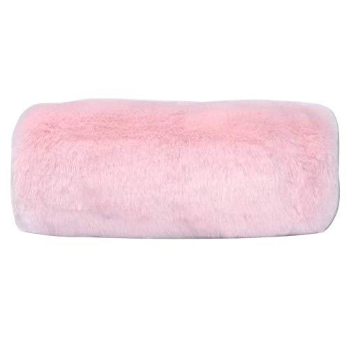 SwirlColor Hand Muffs Kunstpelz Muff für wärmende Hand im Winter (Rosa)