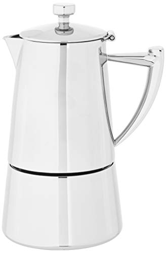 Cuisinox Roma 4-cup Stainless Steel Stovetop Moka Espresso Maker