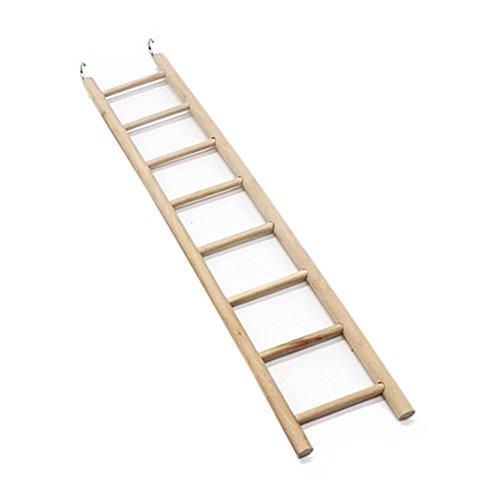 EMVANV Juguetes de pájaros 3/4/5/6/7/8 escaleras hámsters jaula de pájaros Parrot suministros escaleras de madera rascador perca escalada juguetes mascotas