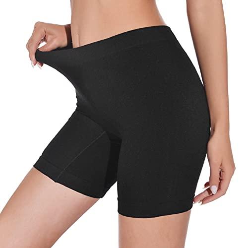 CMTOP Bragas Mujer Leggings Cortos Boxer Algodon Shorts Pantalones Deportivas Leggings Cortos Bajo Falda para Running, Yoga y Ejercicio