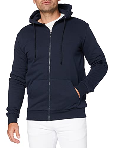 FM London Hyfresh Zipped Capucha, Azul (Navy 12), X-Large para Hombre