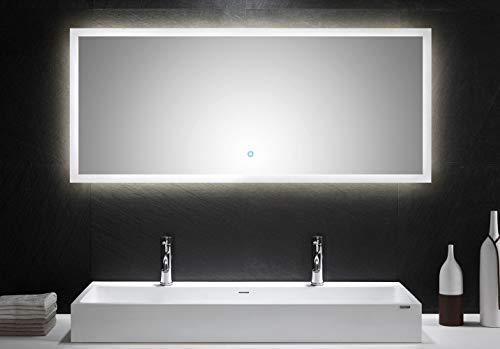 emotion LED Spiegel 140x60 cm mit Touch Bedienung