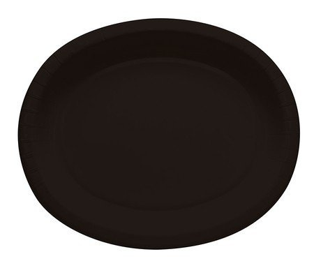 Great Price! Touch of Color 433260 12 in. Oval Platters44; Black Velvet - Case of 96