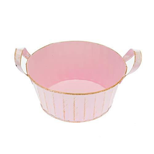 GLOREX 6 7036 025 Metall-Topf, rund, rosa 19, 5x8, 5cm, rosa