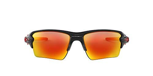 Oakley Flak 2.0 XL 918880 59 Occhiali da Sole, Nero (Polished Black/Prizmruby), Uomo