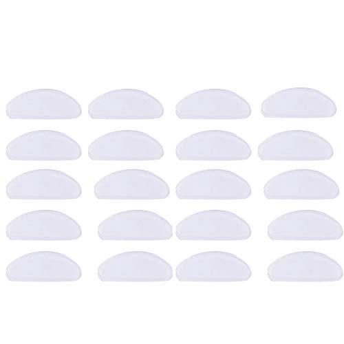 Adhesive Nasenpads, Klebstoff Brile Nasenpads 10 Paar Silikon-Nasenpads Rutschfest für Gläser Sonnenbrille Brille Lesebrillen, 1,5mm